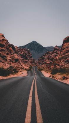 荒漠 公路 戈壁 无止境