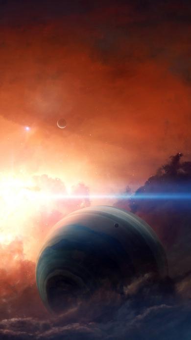 太空 宇宙 光 神秘 星球 梦幻