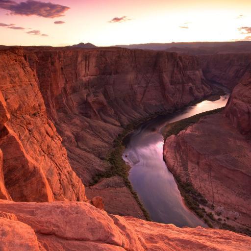峡谷 戈壁 河流 天空