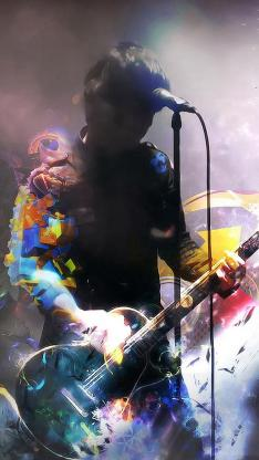 吉他 创意 演唱 歌手