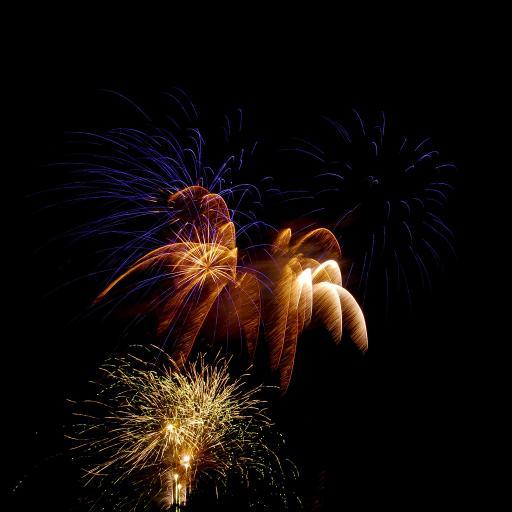 夜空 烟花 节日 庆祝