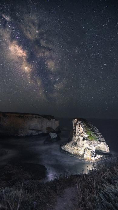 夜晚 星空 唯美 天空