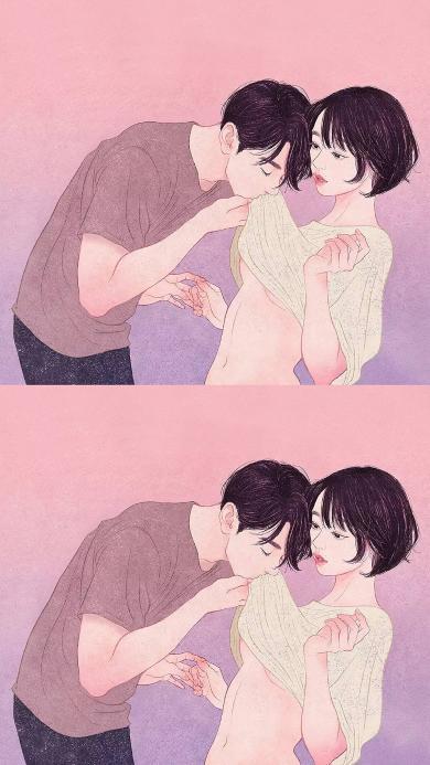 zipcy 韩国插花 男孩 唯美 情侣 触摸