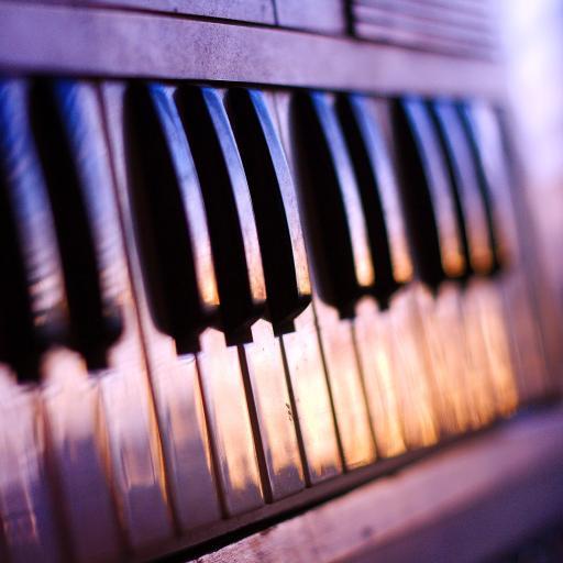 滤镜 琴键 创意 怀旧