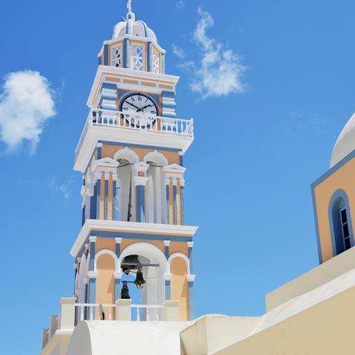 建筑 钟楼 色彩 唯美 清新
