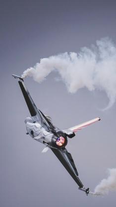 战斗机 飞行 航空 烟雾 空军