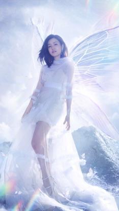 陈妍希 演员 我们来了 唯美 天使 翅膀