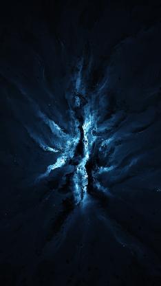 宇宙 梦幻 神秘 蓝色 光