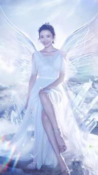 唐艺昕 演员 我们来了 唯美 天使 翅膀