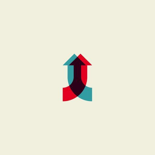 箭头 创意 重叠 标志