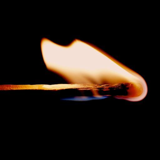 燃烧 火柴 明亮  火苗