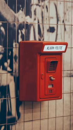 静物拍摄 墙上信箱 红色