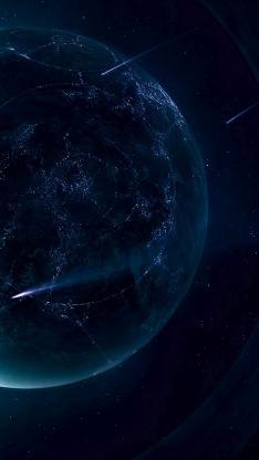 太空 星球 黑色 流星 神秘 宇宙