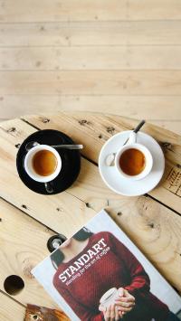 咖啡 杂志 下午茶 休闲 饮品