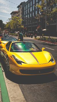 跑车 名车 黄色 街道