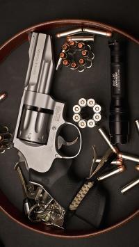 枪支 子弹 左轮 弹药