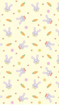 兔子 胡萝卜 平铺 桌面 黄色