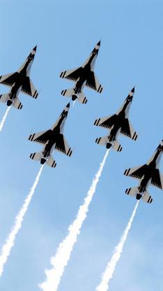 战斗机 飞行 航空 演习 天空 烟雾
