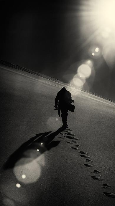 脚印 风景 阳光 孤独