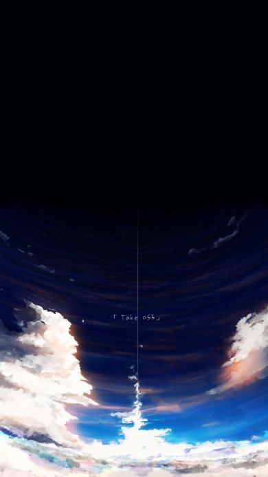 天空 云 唯美 夜空