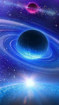 星球 宇宙 太空 梦幻 光圈 唯美