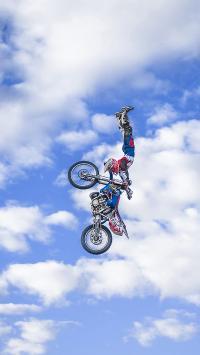 摩托 体育 天空 白云