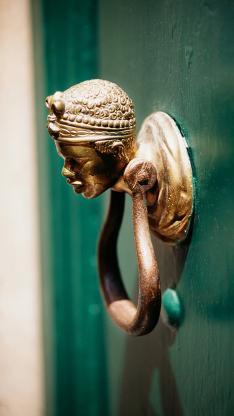 艺术装饰品 意大利非洲妇女门环