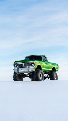 怪物卡车 越野车 旅行 冒险 轮胎  雪 冬天