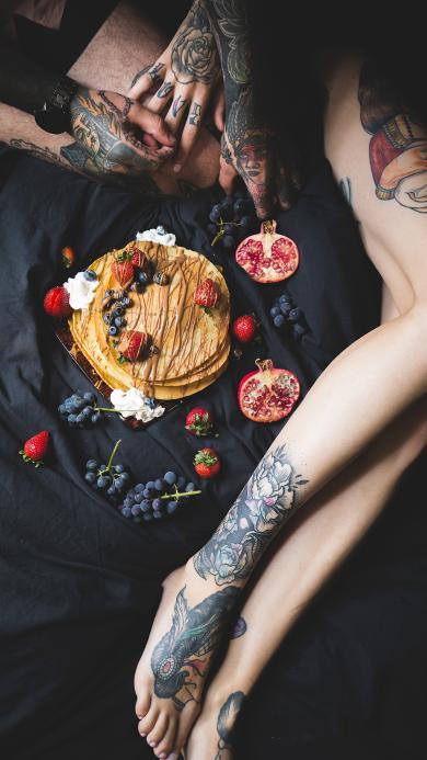 松饼 水果 甜品 创意