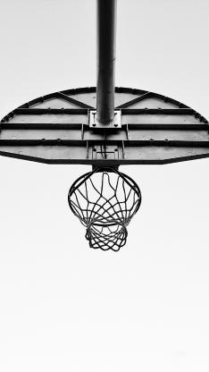 篮球架 运动 黑白 球框