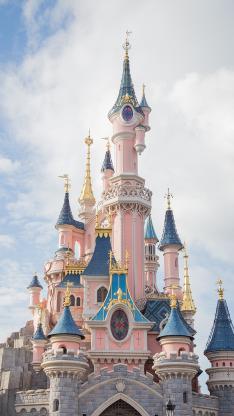 城堡 建筑 迪士尼 设计 天空
