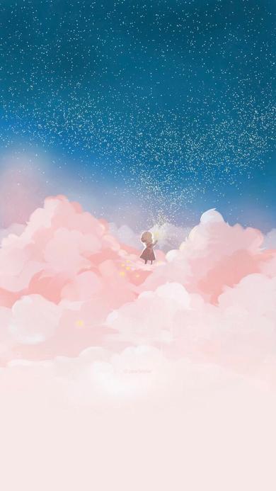云朵 动漫 卡通 手绘 星空
