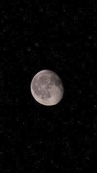 月亮 黑白 月球 天文
