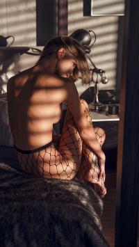 渔网袜 性感 欧美 窗边 阳光