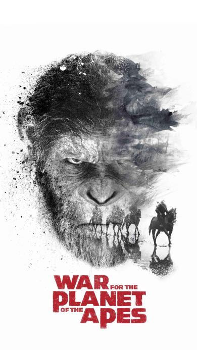 猩球崛起3 终极之战 科幻 美国 电影 凯撒 黑白