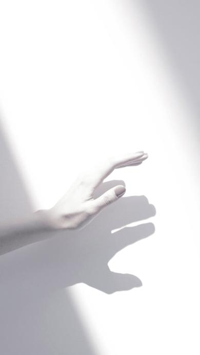 手控 白色 影子 光