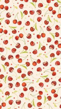 樱桃 平铺 车厘子 水果