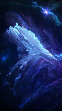 宇宙 太空 蓝色 梦幻 神秘