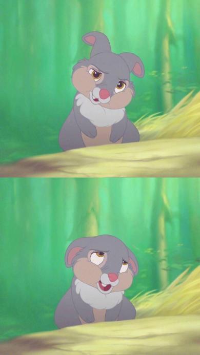 迪士尼动画 卡通灰兔子 可爱