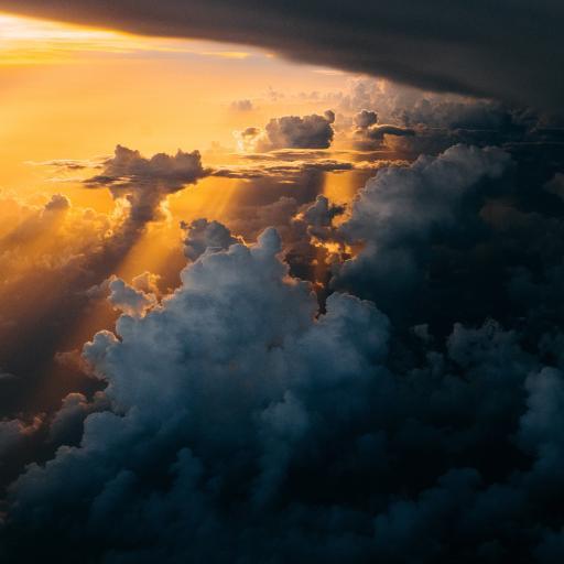 云端 云层 光线 天空