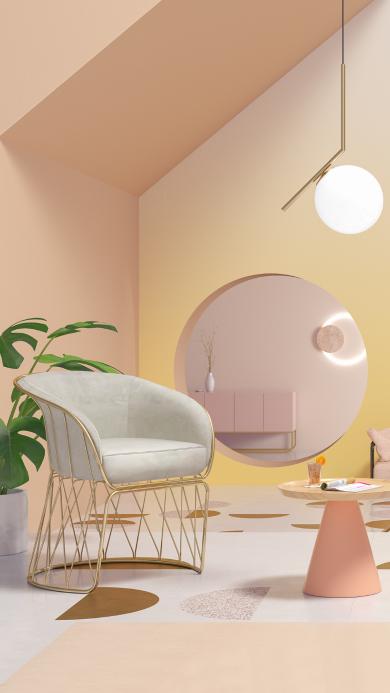 室内设计 现代 粉色 软装