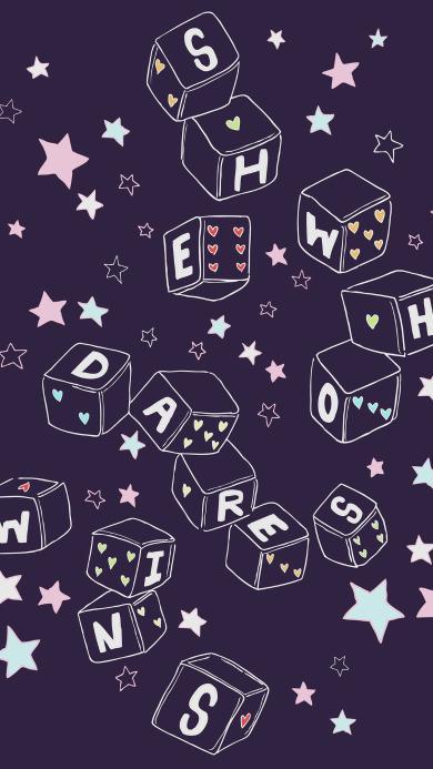 创意 平铺 字母 星星