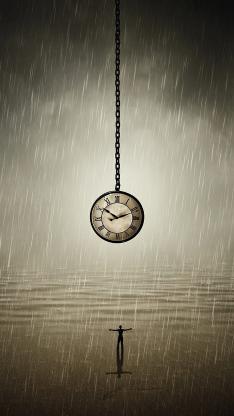 时间 钟表 悬挂 走针