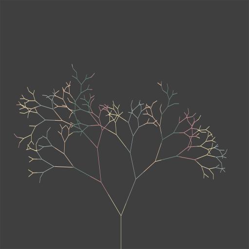 创意 渐变 树枝 科技