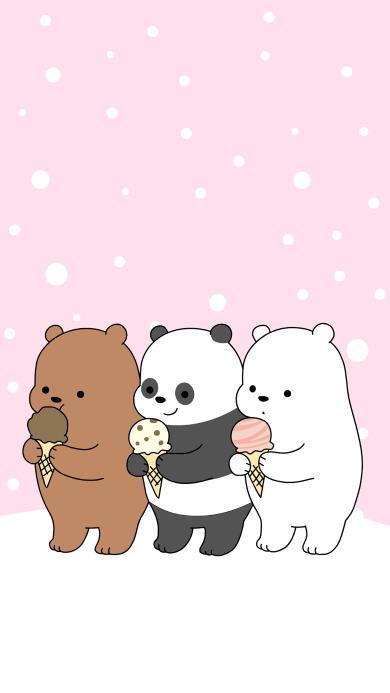 咱们裸熊 北极熊 熊猫 棕熊 可爱 小清新 卡通 动画