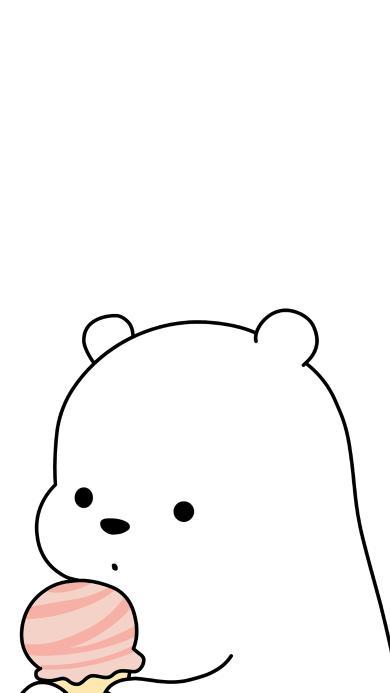 咱们裸熊 冰淇淋 动画 可爱 北极熊