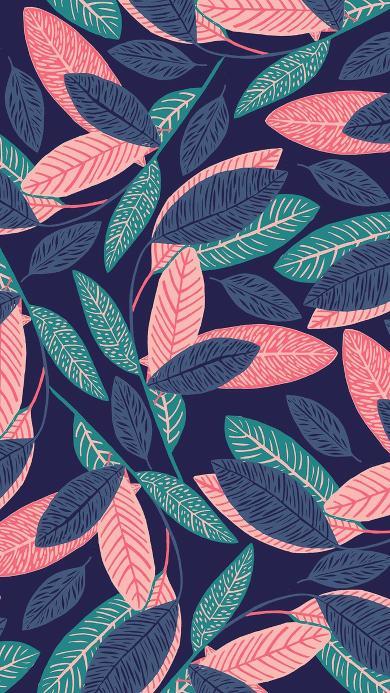 叶子 插画 创意 色彩