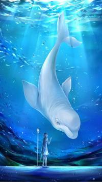 海豚 创意 海洋生物 插画