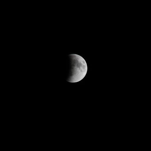 月亮 黑白 夜空 半月
