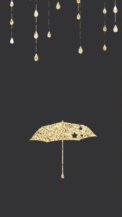 雨伞 雨滴 炫彩 创意